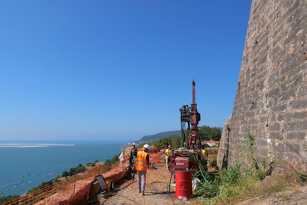 Forte de S. Filipe | Obras consolidação da encosta