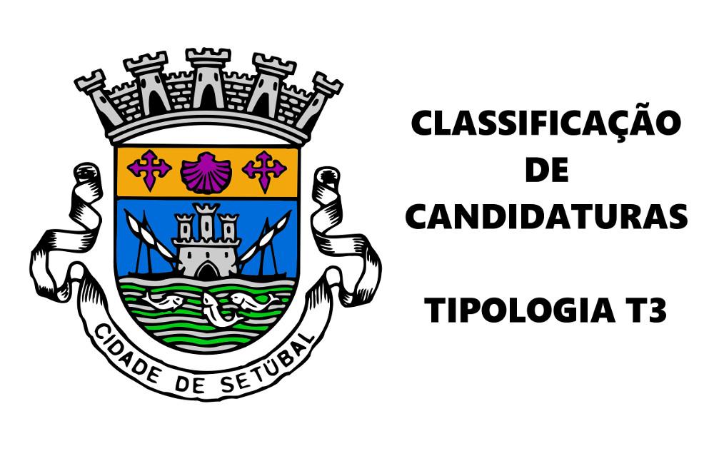 Classficiação de candidaturas | Tipologia T3