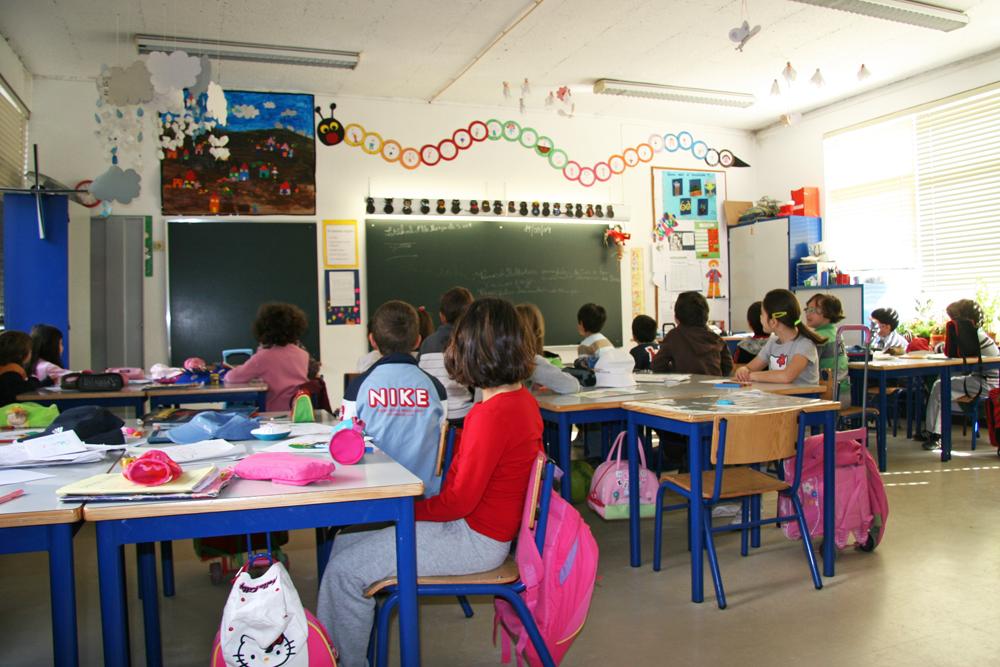 Sala de aula - crianças na escola