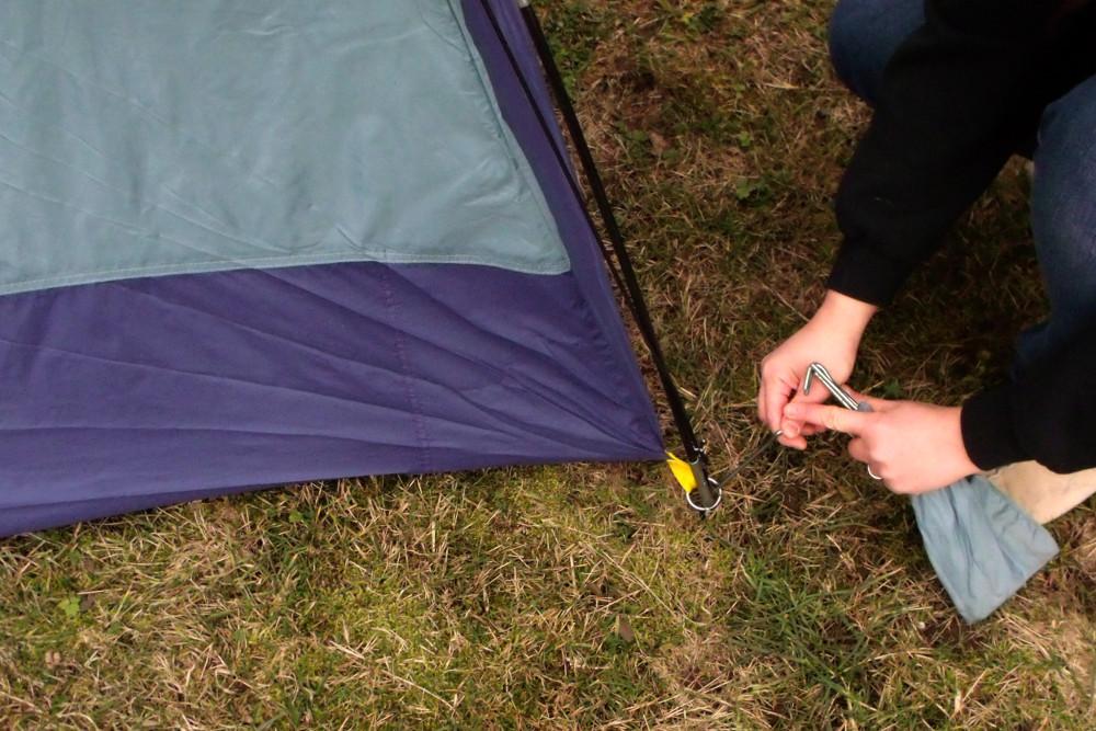 Montagem de tenda | imagem exemplificiativa