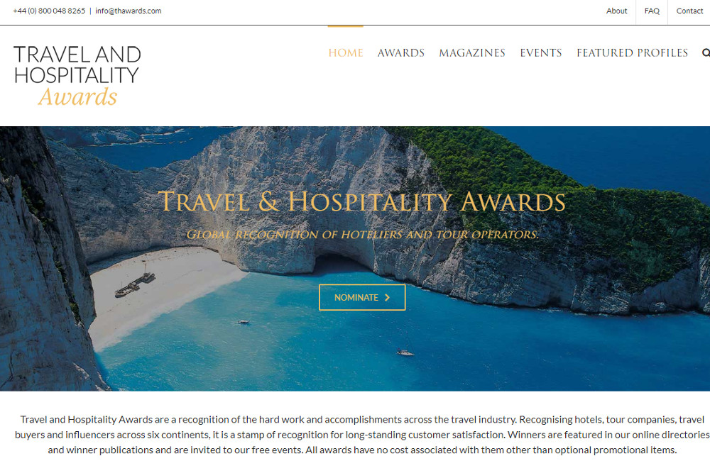 Travel & Hospitality Awards | Casa da Baía | 2019