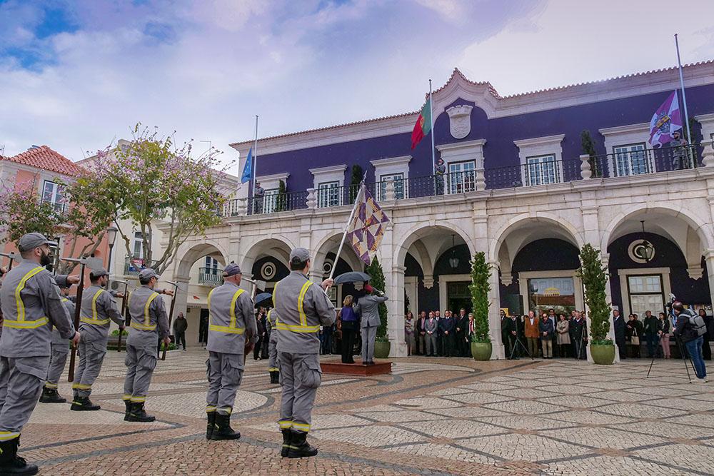 Comemorações 25 de Abril de 2019 - hastear da bandeira