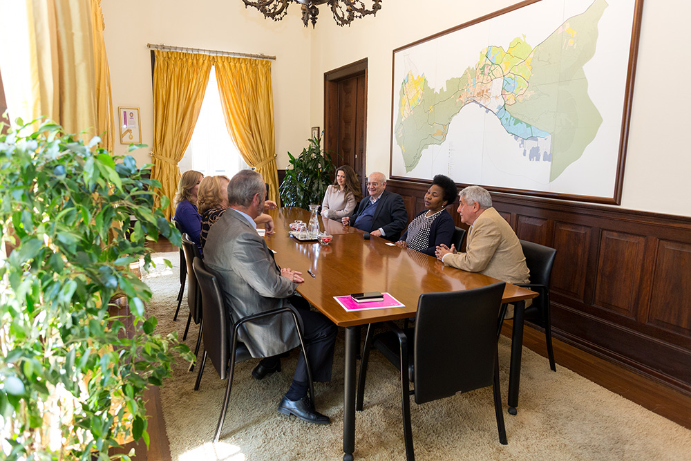 Receção a diretora nacional do Ministério da Saúde de Moçambique
