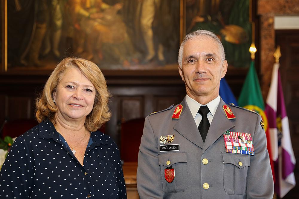 Receção ao chefe do Estado-Maior do Exército