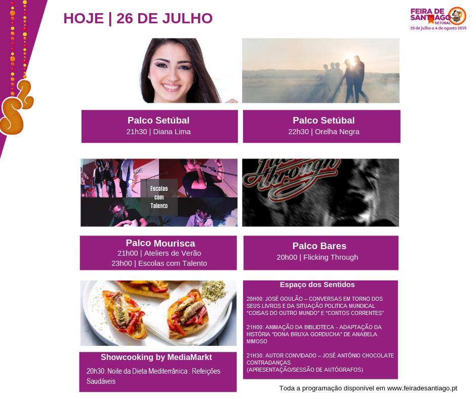 Feira de Sant'Iago | Programação | Dia 26 julho