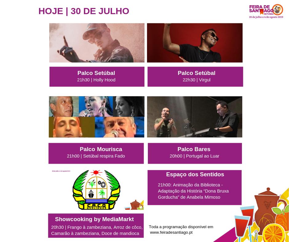 Feira de Sant'Iago | Programação | Dia 30 julho