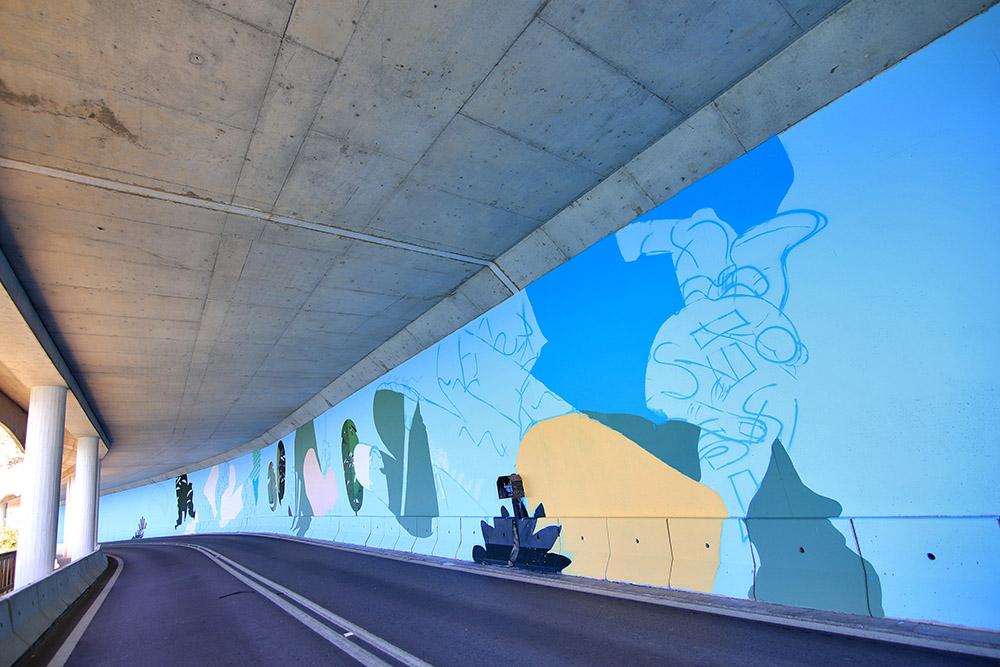 Pintura de túnel na zona da Figueirinha