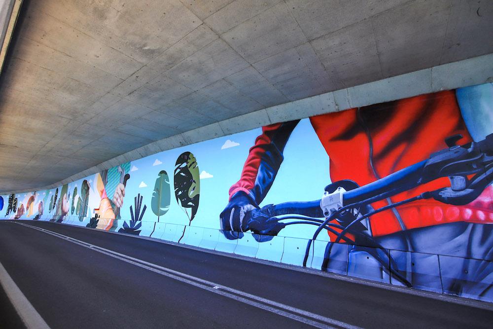 Vive a Arrábida - mural em túnel da Figueirinha
