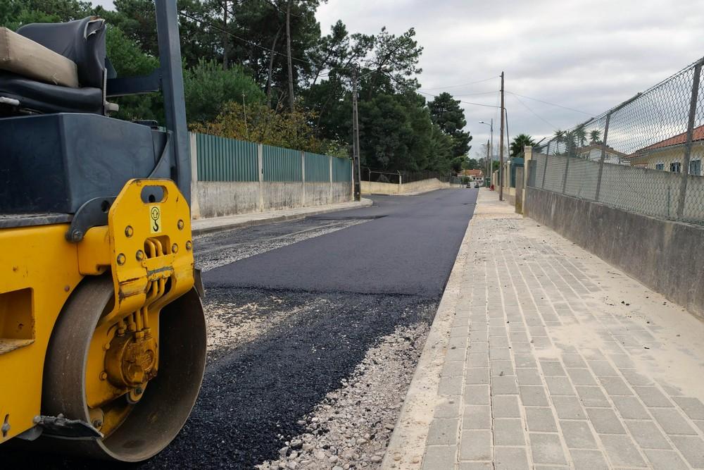 Rua do Areal em Azeitão - asfaltamento