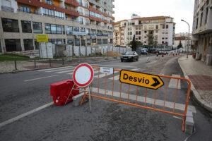 Rua da Tebaida - obras de saneamento