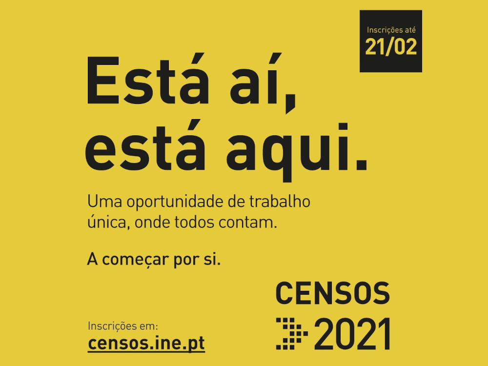 Censos 2021 | Recrutamento de recenseadores