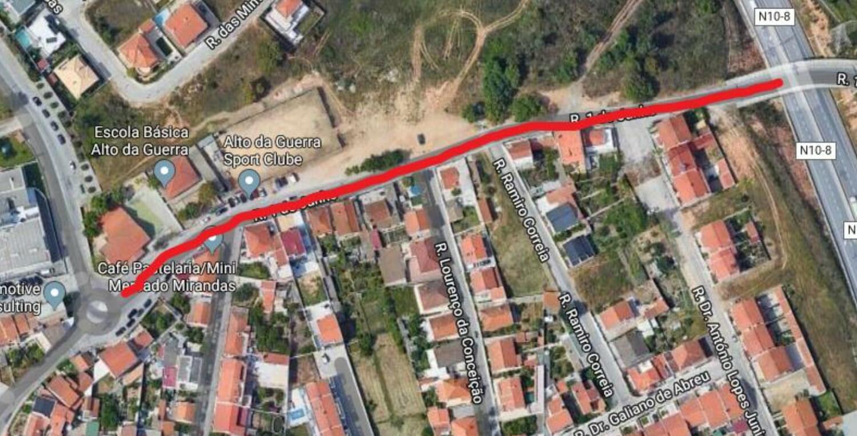 Rua 1 de Junho | Repavimentação | Mapa