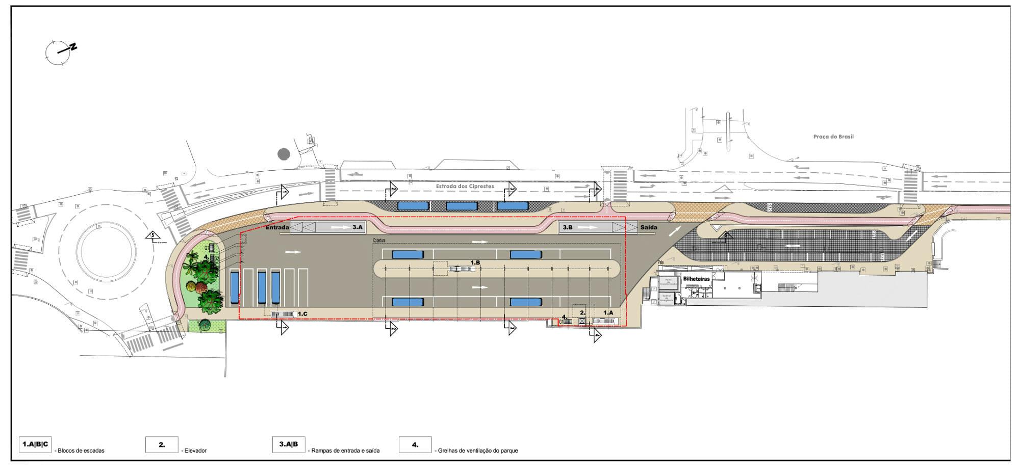 Terminal Interface de Setúbal | Planta do piso térreo