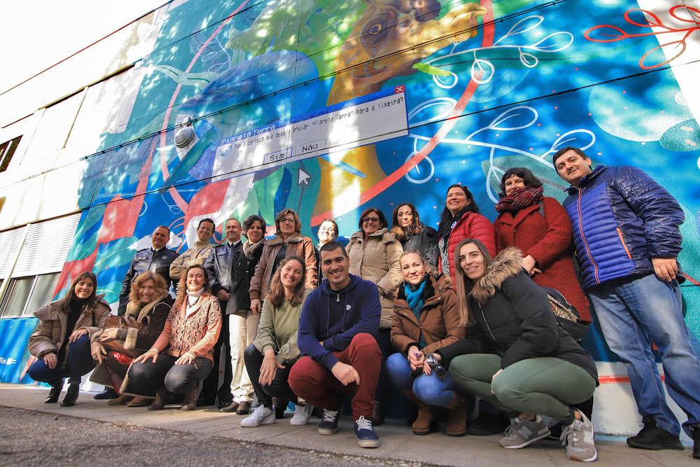 Mural alterações climáticas - inauguração