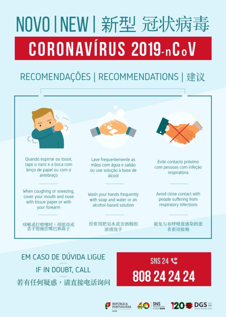 Coronavírus   Recomendações gerais