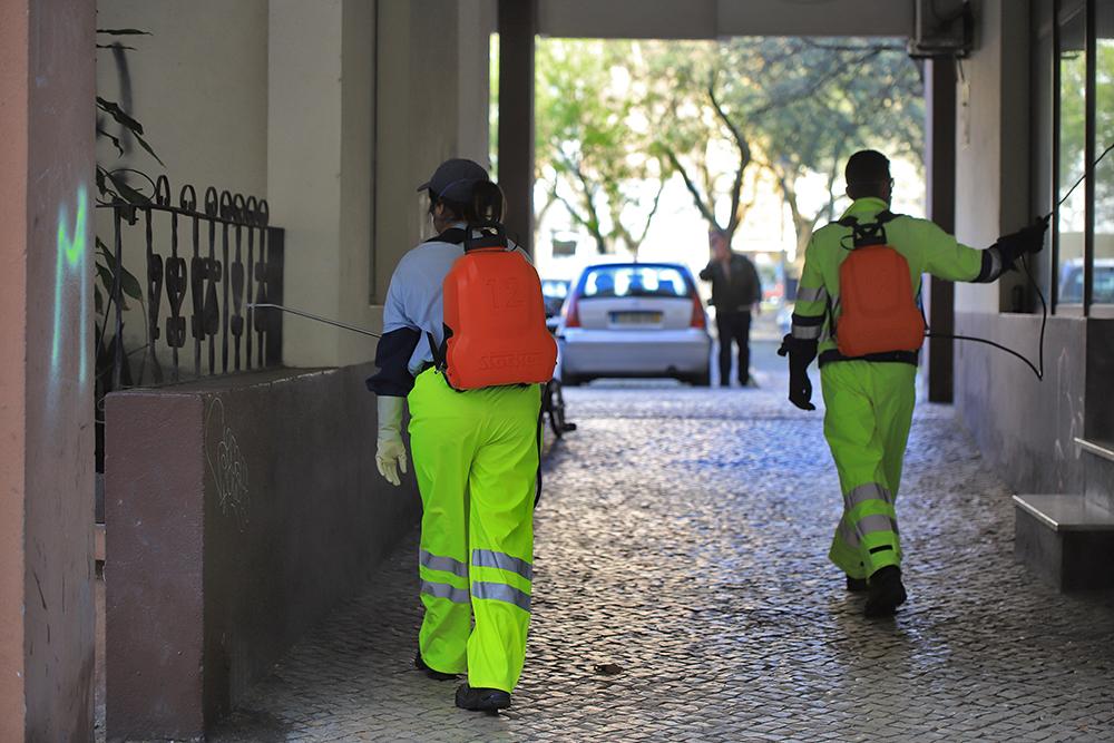 Coronavírus Covid-19 | limpeza e desinfeção de ruas | 26 de março