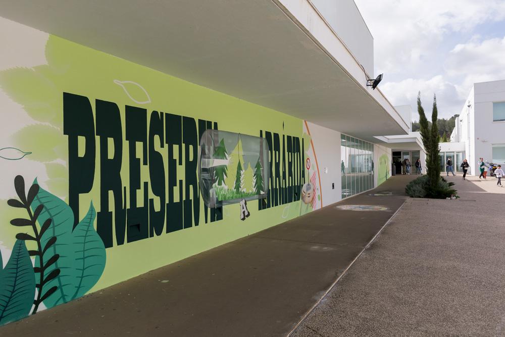 Mês dos Riscos e das Alterações Climáticas - mural na EBS Lima de Freitas