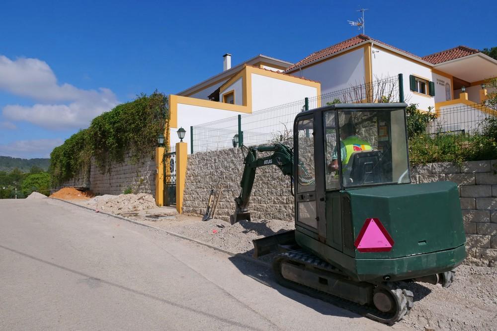 Obras de pavimentação - Rua da Aldeia Grande