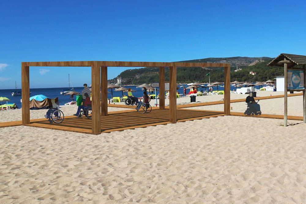 Praia Acessível - Albarquel - montagem virtual
