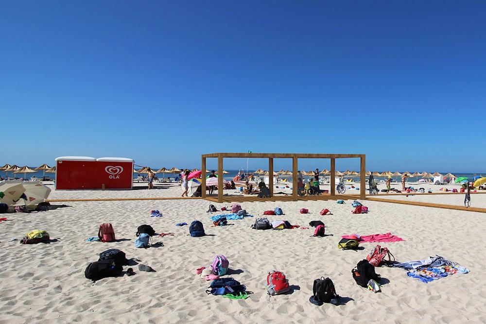 Praia Acessível - Figueirinha - montagem virtual