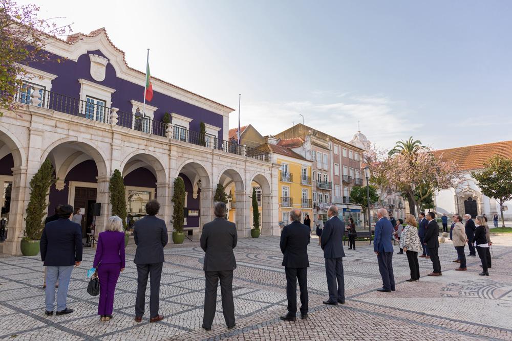 Comemorações dos 46 anos do 25 de Abril | hastear da bandeira