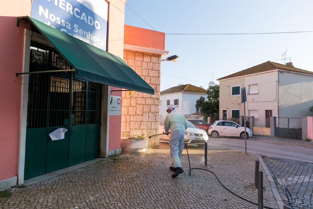 Coronavírus Covid-19 | limpeza e desinfeção | Bairro Santos Nicolau | 2 de abril