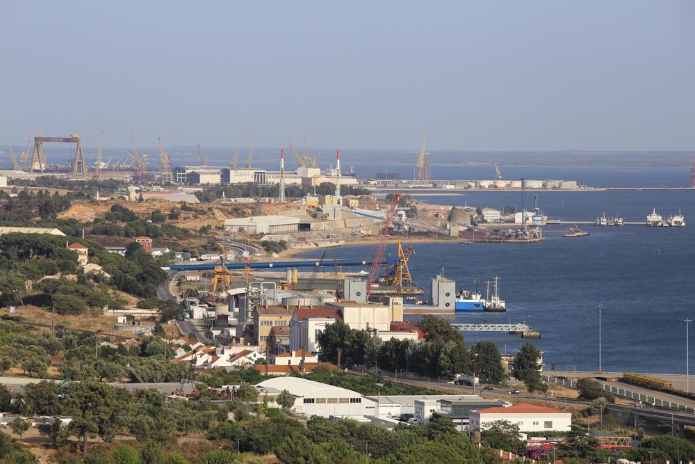 Península Industrial da Mitrena | vista aérea