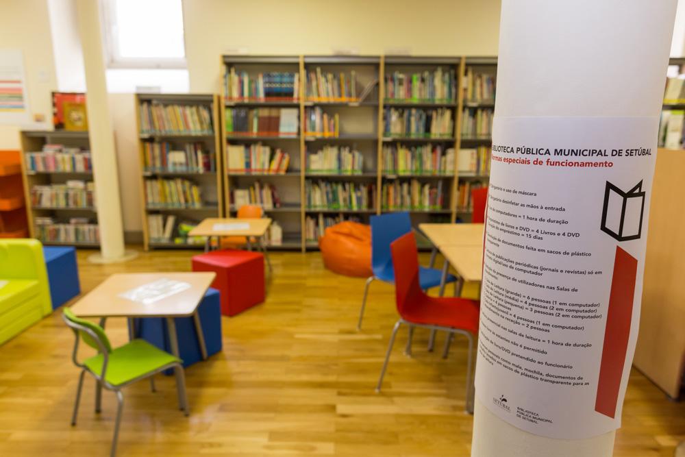 Coronavírus Covid-19 | reabertura da Biblioteca Pública Municipal de Setúbal