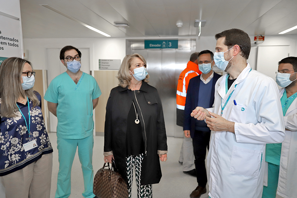 Coronavírus Covid-19 | Visita da Presidente a instituições | Hospital da Luz