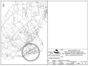 Rede de drenagem na Rua Celestino Cachão | Planta de localização