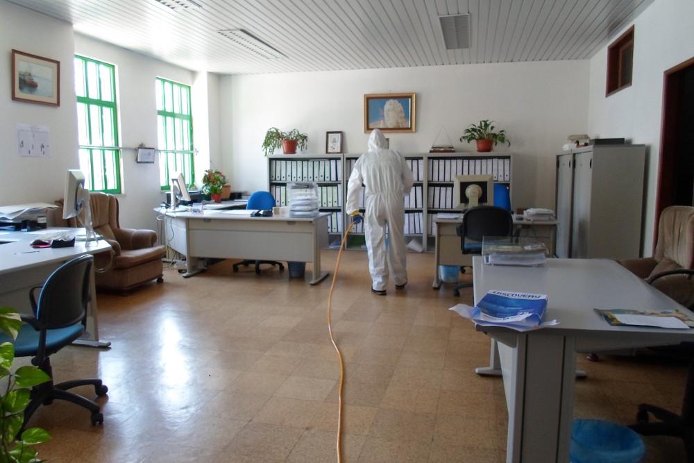 Covid-19 | Coral Luísa Todi | Ação de desinfeção