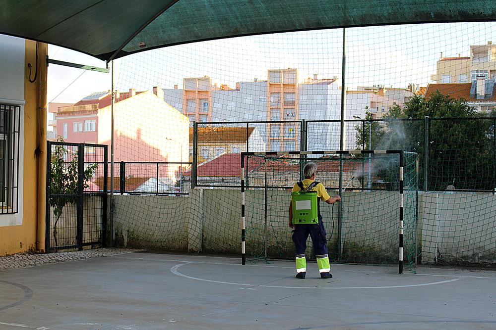 Desinfeção do pré-escolar | São Sebastião