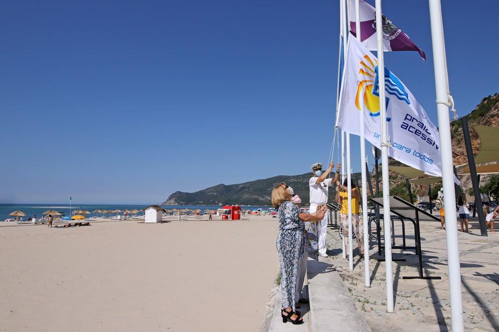 Praia da Figueirinha | Hastear da Bandeira Azul 2020