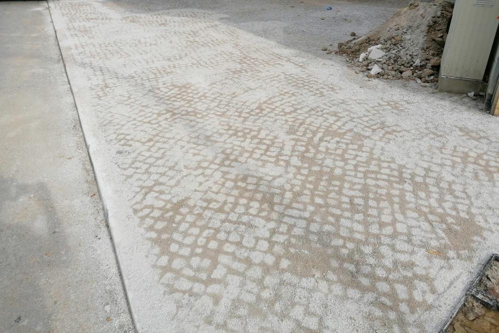 Reparação de calçada na Rua Libânio Braga | Foto da Junta de Freguesia de São Sebastião