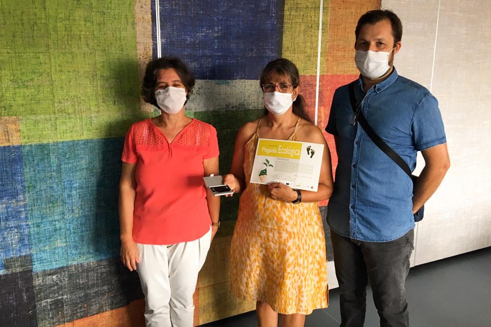 Concurso Pegada Ecológica - atribuição de prémio