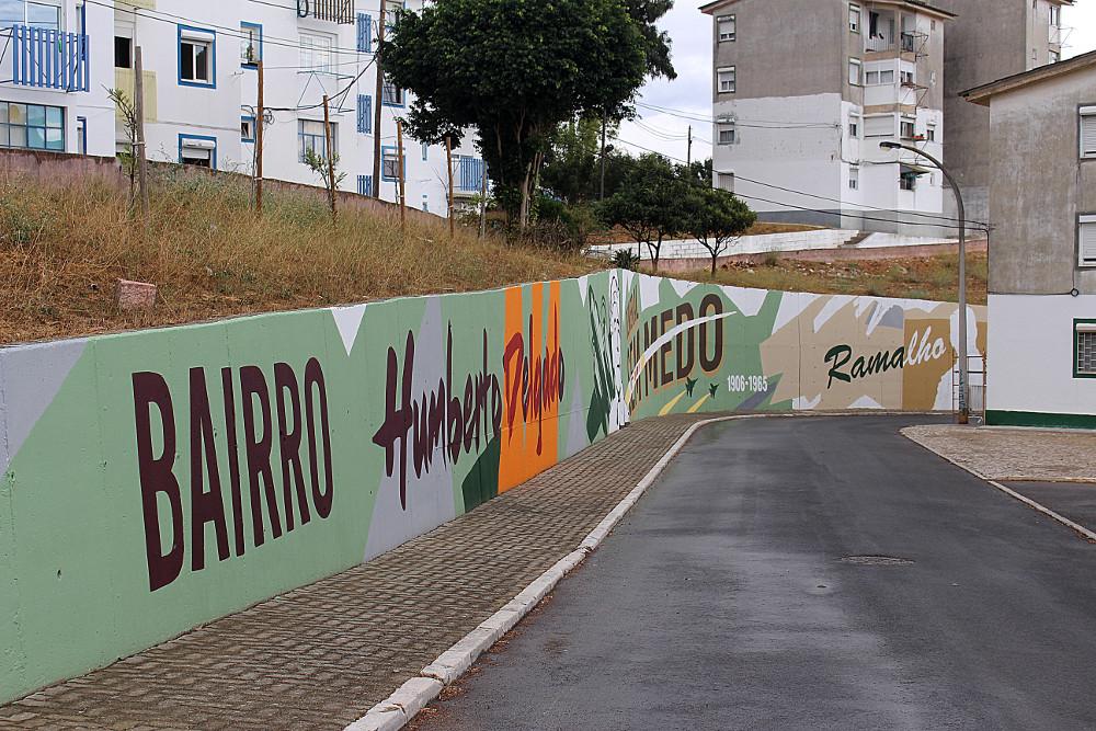 Mural na Rua Ramalho Ortigão   Foto da Junta de Freguesia de São Sebastião