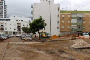 Obras na Rua Flávio Resende | Foto da Junta de Freguesia de São Sebastião