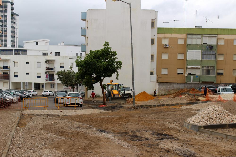 Obras na Rua Flávio Resende   Foto da Junta de Freguesia de São Sebastião