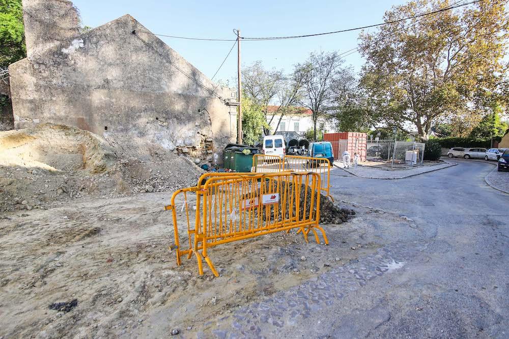 Obras   requalificação urbana do Largo 5 de Outubro   1.ª fase