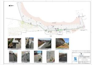 Estrutura de contenção entre as ruas Óscar Paxeco e da Pavalhã