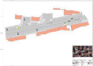 Requalificação viária e pedonal da Rua Flávio Resende | Plano geral de intervenção