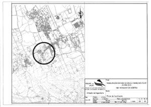 Rede de água e saneamento | Aldeia Rica | Planta de Localização