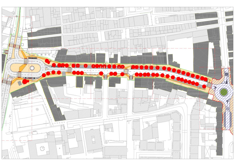 Requalificação urbana das avenidas dos Combatentes e 22 de Dezembro | Planta
