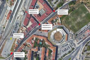 Rua António José Batista | Rebaixamento de passadeiras | Localização