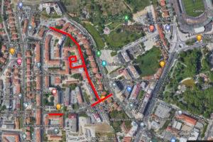 Rua Fernando Santos | Praceta Manuel Envia | Rua Oliveira Martins | Repavimentação | Localização