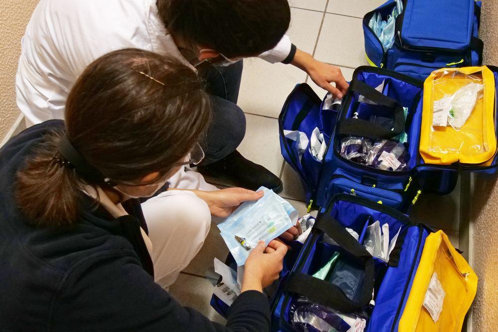Covid-19   vacinação   preparação na UCP de São Sebastião