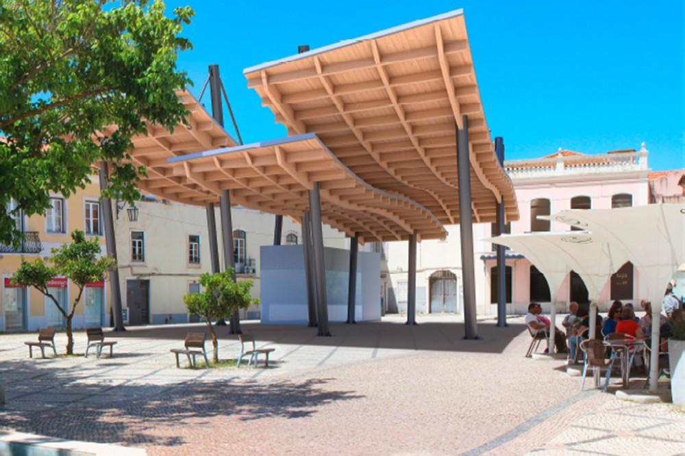 Nova estrutura urbana | Praça de Bocage | Fotomontagem