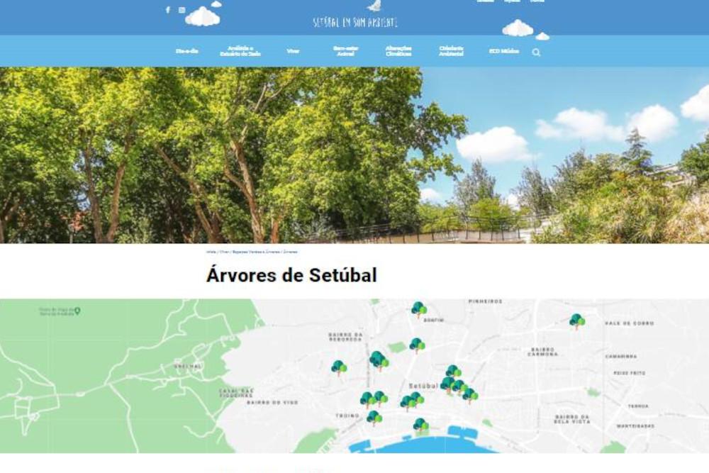 Mapa Interativo de Árvores Classificadas e Propostas a Classificação