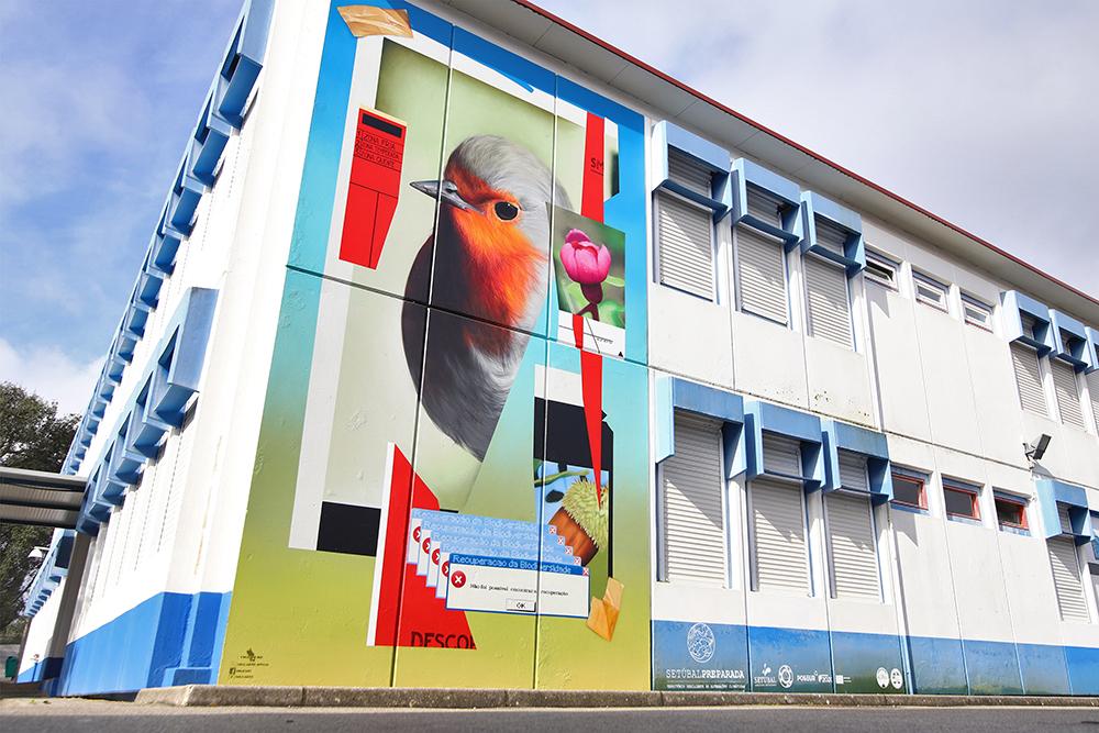 Mês dos Riscos e das Alterações Climáticas - Mural Defesa da Biodiversidade - Smile -EB 2,3 de Azeitão