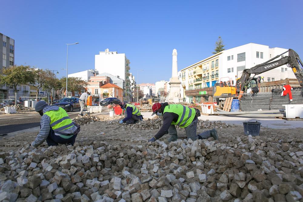 Obras - Avenida dos Combatentes - 06-03-2021